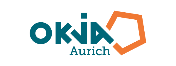 » zu den Angeboten der OKJA | Logo OKJA Aurich