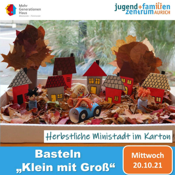 Bewerbung für das Angebot Herbstbasteln im Familienzentrum Aurich